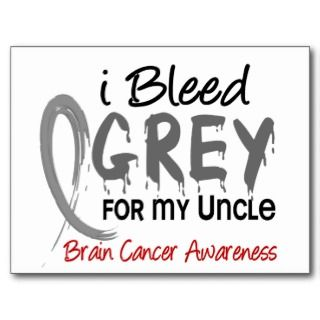 Bleed Grey For My Uncle Brain Cancer Post Card
