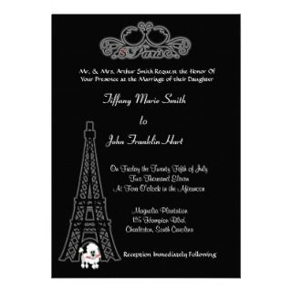 Paris Eiffel Tower Wedding Invitation