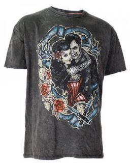 Lava Wash Darkside Tattoo Lover Swallow Rockabilly Knife Rose Punk