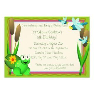 Frog Birthday Invitations, 448 Frog Birthday Announcements & Invites