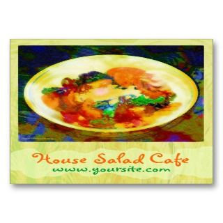 House Salad Cafe Business Card