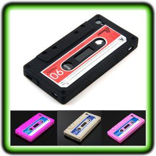 IPHONE 4 4S RETRO KASSETTE CASE Cover Tasche Bumper Tape Silikon