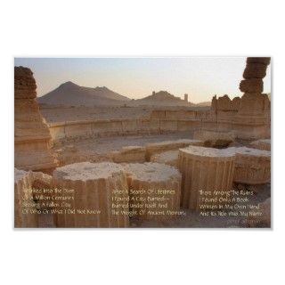 Our Ancient Ruins Modern Poetry Poster features original poetry