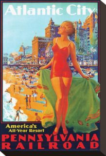 Atlantic City, Americas All Year Resort Stretched Canvas Print by Edward M. Eggleston