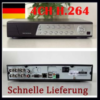 Neu H 264 4 Kanal Netzwerk DVR Digital Video Recorder