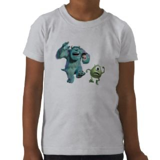 Mike, Sulley, and Boo Running Disney Shirts