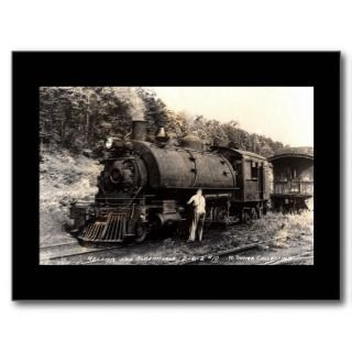 Vintage Steam Train Postcard