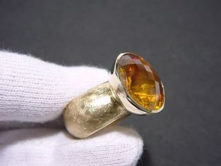 Imposanter 22,9 ct. orangen Citrin Ring Gold 585