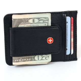 New Leather Money Clip Magnet Slim Wallet Card Case ID