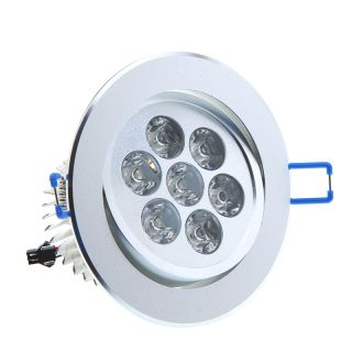 7W 7 LED Ceiling Light Down Recessed Lamp Bulb 85~265V