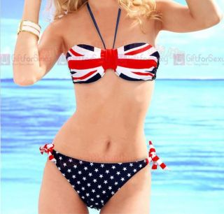 SEXY SWIMWEAR Union Jack UK Britain AMERICAN USA FLAG BIKINI / UK 6 14