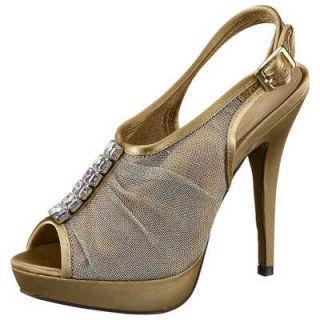 MENBUR Damen Pumps High Heels Plateau Schuh Damenschuh gold