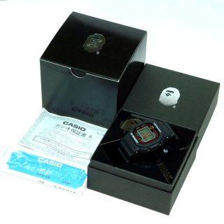 Ape BAPE × CASIO G SHOCK DW5000 Casio Black/1127 f