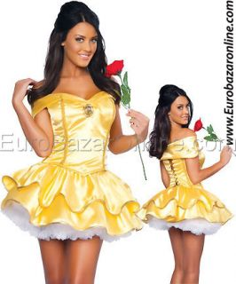 Sexy Costume Belle Abito Festa Bella Bestia Vestito Carnevale