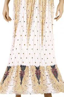 Bohemian Damen Sommerkleid Maxikleid Rock Strand Kleid BoHo XS L