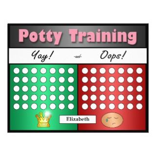 Potty Training Charts for Difficult Trainers Custom Flyer