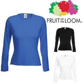 Damen Langarm Shirt Fruit of the Loom XS S M L XL