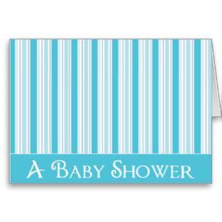 KRW Blue Stripe Custom Baby Shower Invitation Card
