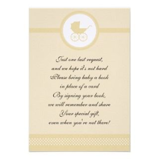 Vintage Baby Carriage Baby Shower Announcements