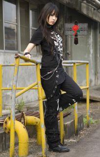 Visual Kei Rock SLAVE Gothic Punk HandCuffs Choker Set