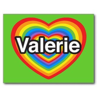 love Valerie. I love you Valerie. Heart Post Card