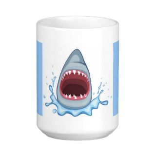 vectorstock_383155 Cartoon Shark Teeth hungry Mugs