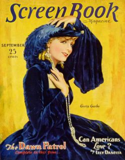 Greta Garbo   Screen Book Magazine Cover 1930s Masterprint