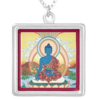 NECKLACE Medicine Buddha silver with pendant