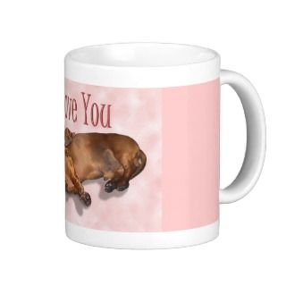 Sleeping Doxie Mug