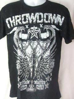 Nate Diaz THROWDOWN Black T shirt New