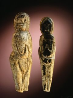 Eleven Thousand Year Old Mammoth Ivory Figures from Malta, Siberia Photographic Print by Sisse Brimberg