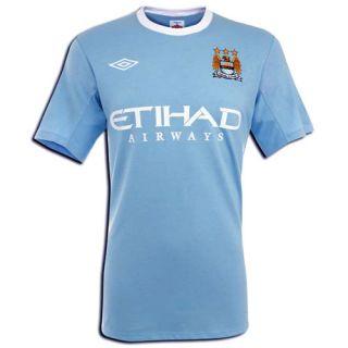 Herren Fußball Trikot Hemd Kurzer Arm Manchester City 2009/10