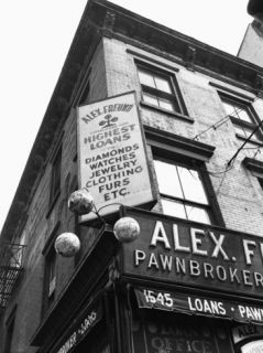 Comerical Sign at Building Corner, Low Angle View Photographic Print by George Marks