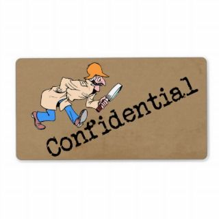 Confidenial Brown Paper Bag Shipping Label