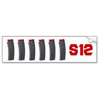 Saiga 12 Magazine Bumper Sticker