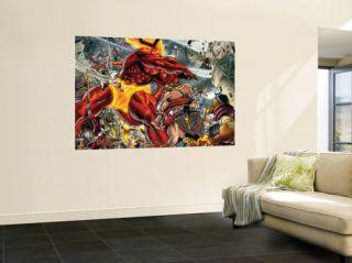 Thor #85 Group Surtur and Beta Ray Bill Wall Mural by Andrea Di Vito
