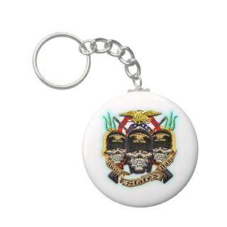 US Navy Seal Team Skull Keychain