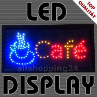 LED Display Schild CAFE Koffee Café Tafel mit Netzteil