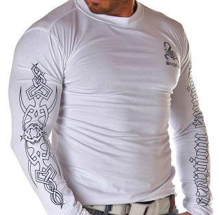 BranDNeW CluBWeaR Longsleeve Sweat Shirt L 305 WEIß