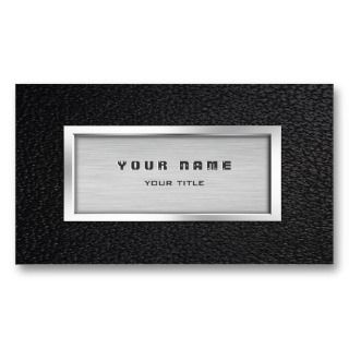 Leather and Metallic Look Business Card Templates