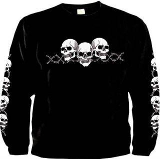 Totenkopf Gothic Sweater Biker Skull Sweatshirt *9652