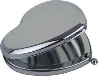 Plain Heart Compact Mirror   Free Engraving & Post