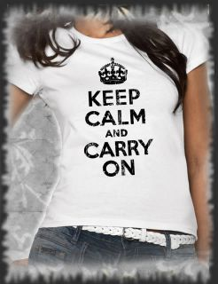 Retro, T Shirt Keep calm and carry onVintage distressed