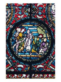 Roundel Depicting the Parable of the Fig Tree, Late 12th Century (Stained Glass) Giclee Print by English