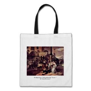 Painting Series, Sicilian Evenings Scene 1 Bags
