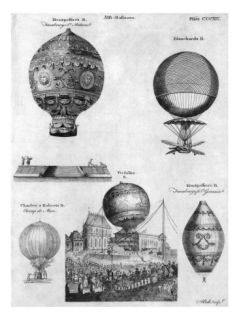Hot Air Balloons, 1783 84 Giclee Print by Andrew Bell