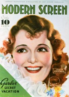 Janet Gaynor   Modern Screen Magazine Cover 1930s Masterprint