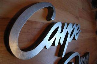 Schriftzug CARPE DIEM antik silber 115 cm lang