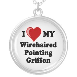 Love My Wirehaired Pointing Griffon Necklace