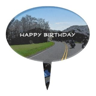 Motorcycle Biker Ride Happy Birthday Card 2